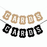 Wholesale wedding photo booth prop signs resale online - Vintage Cards Bunting Banner Garland Wedding Party Bridal Shower Banner Garland Wedding Hanging Signs Picture Photo Booth Props