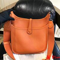 h tasarımcı çantası toptan satış-Yüksek Kalite Bayan Omuz Çantaları Lüks H Gerçek Deri Messenger Çanta Crossbody Çanta Marka Tasarımcısı Bayanlar Tote