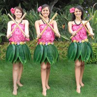 47ec923ae6b5 Artificial Leaf Skirt Hawaiian Beach Wreath Stage Show Costumes Simulation  Leaves Carnival Party Supplies Decoration Kids Adult 30 AAA1508