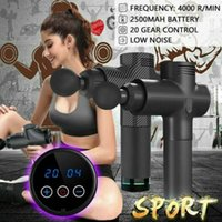 Wholesale electronic percussion resale online - LCD Display Electronic Massage Gun Percussion Massager Muscle Vibrating Relaxing Fascia Recover