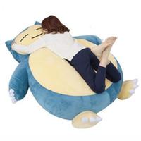 anime yumuşak oyuncaklar toptan satış-Dorimytrader Büyük 150 cm Japonya Anime Snorlax Kapak Yumuşak Karikatür Bebek Oyuncak Doldurma olmadan Mevcut Snorlax DY61329
