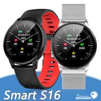 relógios de foto venda por atacado-S16 Banda Inteligente Pulseira de Freqüência Cardíaca Relógio de Saúde Rastreador de Fitness Exercício Registro de Dados de Controle de Foto para Samsung e Apple Telefone