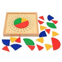 fabrika panoları toptan satış-Matematik Montessori Puan Kurulu Meslek Öğretim Yardım Ahşap Erken Eğitim Yapı Taşları Yuvarlak Çocuklar Popüler Fabrika Doğrudan 22oya I1