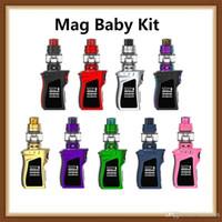Wholesale red green drip tips resale online - hot Mag Baby Kit ml TFV12 Baby Prince Tank W Mag Baby TC Mod mah Battery Ergonomically Designed Cobra Drip Tip Original
