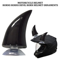 Wholesale pink green motorcycle helmet for sale - Group buy Durable And Safety Tough Rubber Horn Demon Accessories Decor Decoration Helmet Full Protection Motorcycle