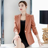 034b5d44a36e7 2019 Spring and Autumn New Ladies Suit Korean Version of The Wild  Self-cultivation Solid Color Office Professional Suit