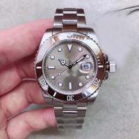reloj gris resistente al agua al por mayor-Moda de lujo para hombre relojes Impermeable 30 m Automático 2813 Movimiento Sub Acero Bisel Gris Dial Hombres Reloj 316 Inoxidable Banda