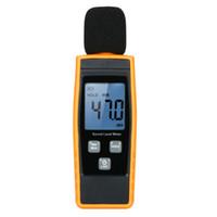medidor de sonido de decibeles al por mayor-Venta caliente Nueva Pantalla Lcd Medidor de Nivel de Sonido Digital Decibel Monitoreo Tester Logger Tester 30 -130dba Medición de Ruido