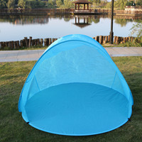 Wholesale children camp tent resale online - Baby Beach Tent Outdoor Picnic Sun Awning Tent Foldable Shelter Up Automatic Tents House Children Camping Hiking