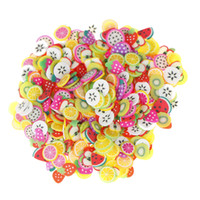 Wholesale fimo nail polymer online - DIY Coloful D Apple Orange Kiwi Fruit Fimo Nail Art Decorations Slices Polymer Clay Makeup Tools