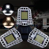 yüksek hazneli depo lambaları toptan satış-E27 LED Yüksek Defne Işık 60 W 80 W 100 W Süper Parlak Sensör Garaj Lambası AC100-277V Ayarlanabilir Açı Endüstriyel Aydınlatma Depolar için