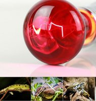 Wholesale pet heat lamp bulb resale online - Mini E27 Reptile Pet Heating Light Bulb W Infrared Ceramic Emitter Lamp Lights Habitat Lighting For Pet Brooder Supplies