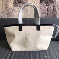 Wholesale Hot new fashion summer beach CE shopping bag top quality canvas big tote bags handbag women top quality Classic Style
