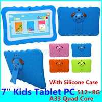 Wholesale Kids Tablet PC inch Allwinner A33 Quad Core GB children tablets Android wifi big speaker protective cover