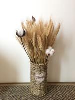 ingrosso nuovi fiori secchi-Nuovi 100 pezzi naturali fiori secchi Fiori decorativi Bouquet orecchio grano rami essiccati per la decorazione di nozze