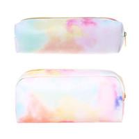 каваи розовая ручка оптовых-Kawaii Pencil Case Colorful Pink Makeup Cosmetics Bag Pen Box Storage Pouch Case School Supplies Stationery