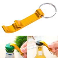 Wholesale keychain beer can bottle opener resale online - Portable Beer Bottle Opener Keychain In Pocket Aluminum Alloy Keychain Ring Beer Bottle Opener Can Colors Wedding Party Favor Gifts
