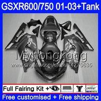 tanques suzuki al por mayor-+ Depósito para SUZUKI GSXR 600 750 GSXR-750 GSXR600 2001 2002 2003 294HM.53 GSX R750 R600 K1 GSX-R600 Movistar gris caliente GSXR750 01 02 03 Carenados