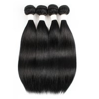 Wholesale remy human hair jet black for sale - Group buy Brazilian Straight Human Hair Bundles Color Jet Black Indian Peruvian Hair bundles or Bundles Inch Remy Human Hair Extensions