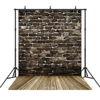 Wholesale backdrops for photography for sale - Group buy vintage dark brick wall Vinyl photography background for child baby shower new born portrait backdrop photocall photo studio