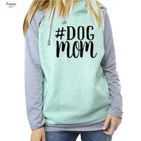 chien de soie achat en gros de-Dog Maman nouvelle mode 100% soie Sweats à capuche femme Kawaii Impression Femmes Sweat Motif épais Femme recadrée et sweat-shirts