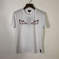 xl t gömlek ebadı toptan satış-19SS Erkek Tasarımcı T Shirt Çoklu Değiştirilebilir Göz Baskı Büyük Boy Pamuk Moda Trendi Nefes Tarzı T Shirt