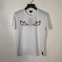 t-shirt druckgröße großhandel-19SS Herren Designer T Shirts Mehrere Veränderbar Augendruck Große Größe Baumwolle Modetrend Atmungsaktive Stil T Shirts
