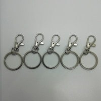 Wholesale key chain accessories split rings for sale - Group buy Polished Silver Color Keyring Keychain Split Ring Key Rings Women Men Key Chains Accessories