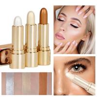 ingrosso evidenziando la penna-Shimmer Highlight Contour Stick Makeup Tool Beauty Face Powder Cream Crema trucco naturale Eye Foundation Highlight Pen Stick LJJW74