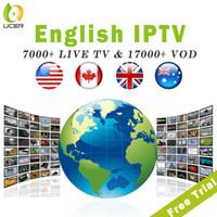 4k ultra hd tv großhandel-IPTV-Abonnement USA Kanada Großbritannien Australien Arabisch Albanien 7000 + Live-Kanäle 17000 + VOD IPTV für Android TV Box 4k Ultra Smart TV Firestick