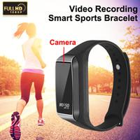 Wholesale secret recorders resale online - K68 Fitness Track HD Camera Bracelet Function Outdoor Sport Digital Cam Micro Mini Secret Smart Watch Voice Recorder