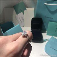 berühmter verlobungsring großhandel-T Soleste Birnenform Ringe Luxus Diamant Splitter Ring Liebe berühmte Marke Designer Schmuck 925 Sterling Silber Verlobung Ehering