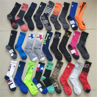 Wholesale polyester cotton sports socks online - Men Women U A Socks Under Cotton Screw Short Socks Sports Basketball Mid calf Stockings Winter Autumn Ankle Sock Slippers Multicolor Hosiery