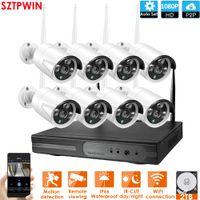 8ch ip kamera kit nvr großhandel-8CH CCTV-System Wireless-1080P NVR 8PCS 2.0MP IR Außen P2P Wifi IP-Überwachungskamera-System Surveillance Kit