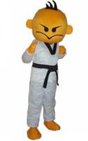 caçoa desenhos animados caráter mascote venda por atacado-Kung fu boy Mascot Costumes tema animado Kung Fu garoto mascote dos desenhos animados caráter traje do partido do carnaval de Halloween