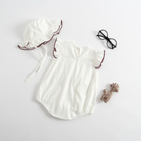 Wholesale babys jumpsuits for sale - Group buy Childrens clothing Summer Ha Yi Babys clothing with cap and Jumpsuit Babys Neonatal A Hair Substitute