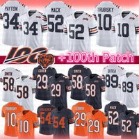 ours de football maillot achat en gros de-Chicago 52 Maillot Khalil Mack Bears 34 Walter Payton 10 Mitchell Trubisky 29 Tarik Cohen 89 Mike Butkus Ditka Smith Urlacher Hicks Jackson