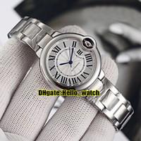 pulseira de moda japão venda por atacado-Novo 33mm Luxo W6920071 Carro Ballon White Dial Japão NH05 Relógio Automático Das Mulheres Pulseira de Aço Inoxidável Moda Lady Relógios TW Fábrica
