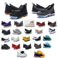 16 saat toptan satış-16 s eşitlik basketbol ayakkabıları erkekler için james spor ayakkabı taht kral oreo LeBron XVI SB EP 16 eşitlik szie 40-46