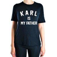 cópia engraçada das letras camisetas venda por atacado-T das mulheres 2019 verão Karl é meu pai cartas imprimir engraçado camiseta mulheres marca Top Harajuku camiseta Femme manga curta O - pescoço camiseta
