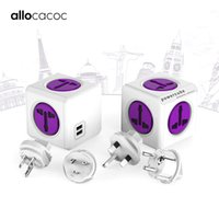 Wholesale multi travel universal power adapter online – Allocacoc Powercube International Travel Adapter Universal Multi Plug Electric Power Strip Socket Usb Charger For Uk Eu Au Usa J190517