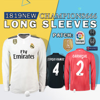 6d8406b267e quality 1819 new Long sleeves real Madrid  10 MODRIC Marcelo soccer jersey  BALE ASENSIO ISCO RAMOS champions league home Third Kit jersey
