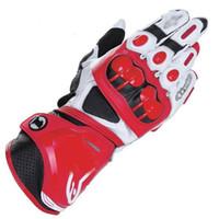 хоккейные перчатки оптовых-Бесплатная доставка PRO мотоциклетные перчатки Moto Racing Team водительские перчатки из натуральной кожи мотоцикла коровьей перчатки