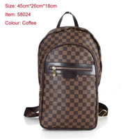 Wholesale student leather backpack bag for sale - Group buy A43 LOUIS VUITTONLuxury Backpack Men Women High Quality Leather Bags Designers Pack Bag Student School Bag