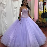 Wholesale crystal illusion sleeves quinceanera resale online - 2019 liaic Saudi Ahamad Mexico Ball Gown sweetheart Quinceanera Dresses with crystal beaded Princess Prom Dresses puffy lace up Custom Made