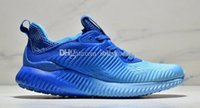 Wholesale mens leisure sports shoes for sale - Group buy Discount Mens womens running shoes fashion Alfa sports leisure breathable mesh sneakers shoes with box s