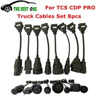 диагностические кабели obd оптовых-Top Quality Full 8 Truck Cables Set OBD2 Diagnostic Connector OBD OBDII Converter Cable Work For TCS CDP Pro Diagnostic Tool