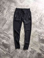 ropa de trabajo para hombres al por mayor-Hombres Jogger Brand New Patch Work Pantalones grises Cintura elástica Ropa deportiva Pantalones masculinos