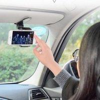Wholesale phone car visor holder resale online - Universal Safety Sun Visor Car Phone Holder Car Navigation Holder Clip Bracket Handle For Mobile Phone