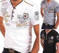ingrosso shirt in vendita-ZOGAA 2019 Estate calda shirt maglia maniche corte uomo Camicie Casual Slim Fit in cotone da uomo s vendita calda XS-xxloffow
